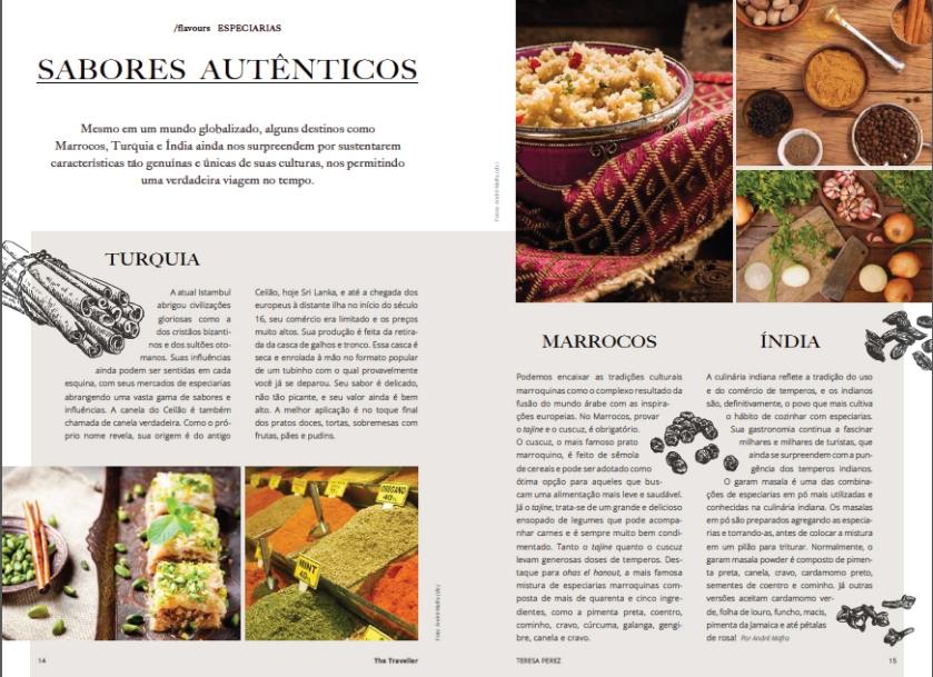 Artigo Sabores autenticos- Índia, Turquia e Marrocos